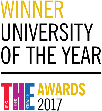 Winner, university of the year by T H E awards 2017